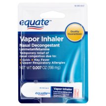 Equate Nasal Decongestant Levmetamfetamine Vapor Inhaler, 50 mg, 0.007 Oz