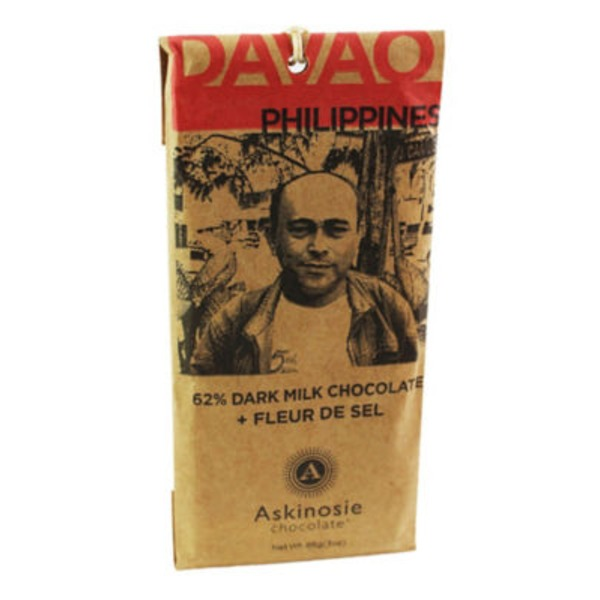 Askinosie Davao Dark Milk Chocolate & Fleur De Sel Bar