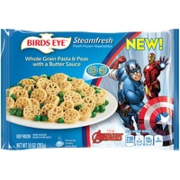 Steamfresh Marvel Avengers Whole Grain Pasta & Peas with a Butter Sauce Frozen Entree