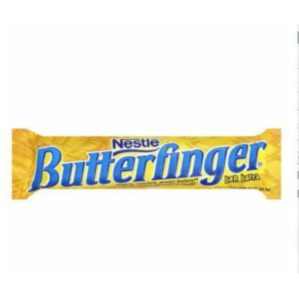 Nestle Butterfinger Crispety, Crunchety Peanut Buttery Candy Chocolate Candy Bar