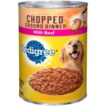 Pedigree Chopped Ground Dinner With Beef Wet Dog Food, 22 Oz.