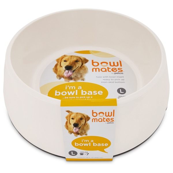 Bowlmates By Petco Large White Round Base