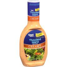 Great Value Creamy Thousand Island Dressing, Light, 16 fl oz