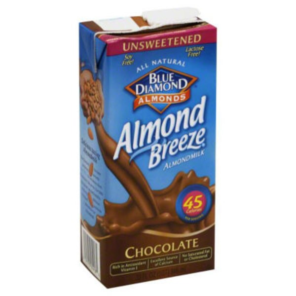 Blue Diamond Almonds Unsweetened Chocolate Almond Milk Non Dairy Milk Alternative