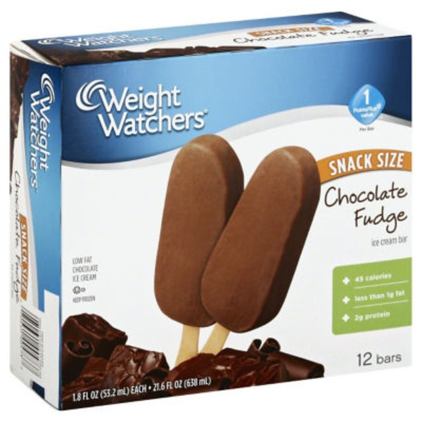 Weight Watchers Snack Size Chocolate Fudge Ice Cream Bars