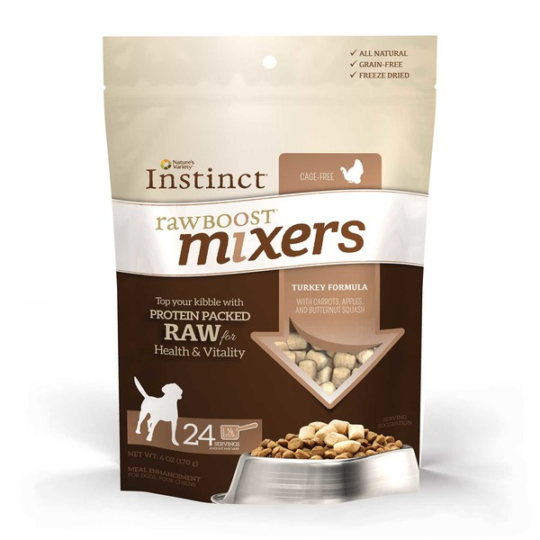 Nature's Variety nstinct Raw Boost Turkey Dog Food Mixers