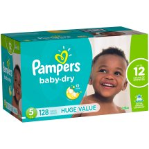 Pampers Baby Dry Diapers, Size 5, 128 Diapers