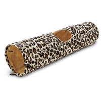 Leaps & Bounds Leopard Print Crinkle Cat Tunnel 36