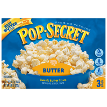 Pop Secret Microwavable Popcorn, Butter, 3 Pack Box, 10.5 Oz