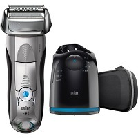 Braun Series 7 Men's Rechargeable Wet & Dry Electric Foil Shaver with Cleaning Station
