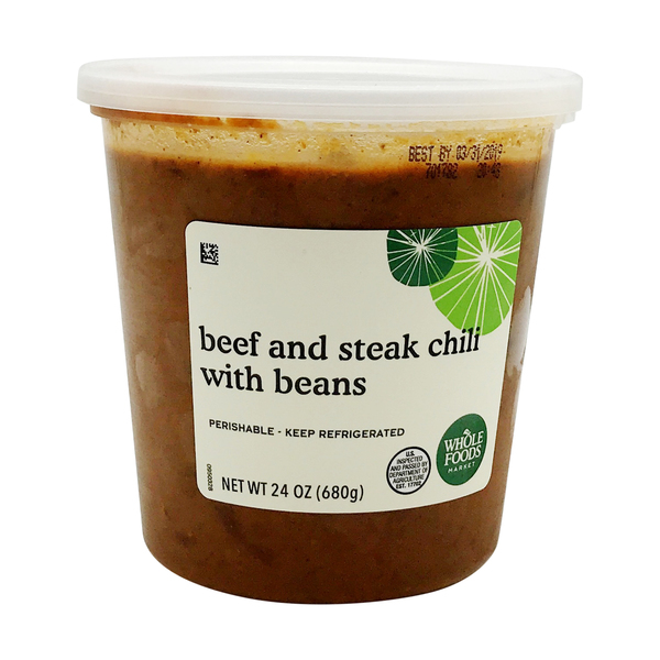 Whole foods market™ Beef And Steak Chili With Beans, 24 oz