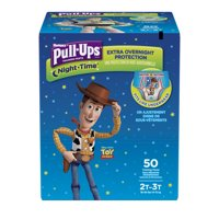 Pull-Ups Boys' Night-Time Potty Training Pants, Size 2T-3T, 50 Count
