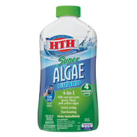 HTH Super Algae Guard 4-in-1, Kills and Prevents Algae in Pools, 1 qt