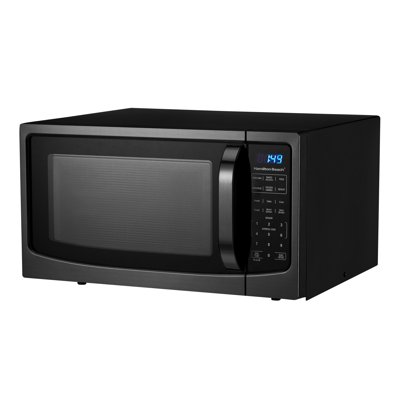 Hamilton Beach 1.6 Cu.ft Black Stainless Steel Digital Microwave Oven