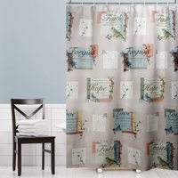 "Mainstays 70"" x 72"" Hopeful Fabric Shower Curtain, 1 Each"