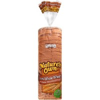 Natures Own 100% Whole Wheat Bread 20oz