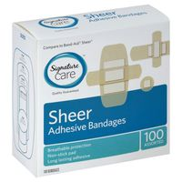 Signature Care Sheer Adhesive Bandages