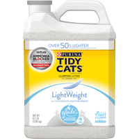 Purina Tidy Cats Light Weight, Low Dust, Clumping Cat Litter, LightWeight Glade Clear Springs Multi Cat Litter, 8.5 lb. Jug