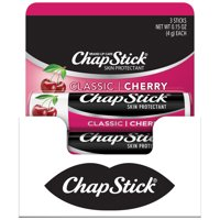 ChapStick Classic Flavored Lip Balm, Cherry, 3 Count
