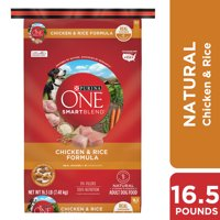 Purina ONE Natural Dry Dog Food, SmartBlend Chicken & Rice Formula - 16.5 lb. Bag