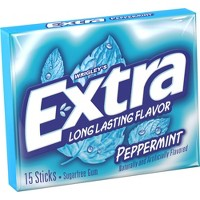 Extra Peppermint Sugar Free Chewing Gum Single Pack - 15 Piece