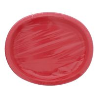 """Unique 12"""" Red Oval Paper Plates"""