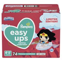 Pampers Easy Ups Training Underwear Girls, Size 4T-5T, 74 Ct