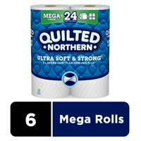 Quilted Northern Ultra Soft & Strong Toilet Paper, 6 Mega Rolls (= 24 Regular Rolls)