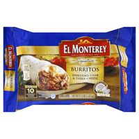 El Monterey Signature Shredded Steak & Three-Cheese Burritos