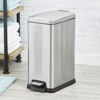 Better Homes &Gardens 3.9 Gal / 15L Slim Rectangular Stainless Steel Waste Can with Soft Close Lid