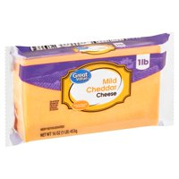 Great Value Mild Cheddar Cheese, 16 oz
