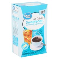 (250 Packets) Great Value Aspartame No Calorie Sweetener Packets