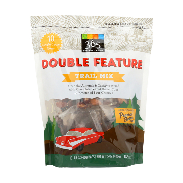 365 Everyday Value® Double Feature Trail Mix, 10 ct