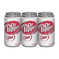 Diet Dr Pepper Soda, 7.5 Fl. Oz., 6 Count
