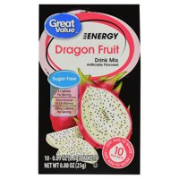 Great Value Sugar-Free Dragon Fruit Energy Drink Mix, 0.88 oz, 10 Count