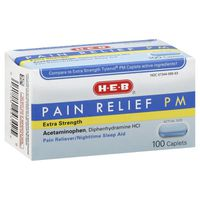 H-E-B Pain Relief PM Pain Reliever & Nighttime Sleep Aid Extra Strength Caplets