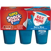Super Snack Pack Berry Blue Juicy Gels, 6 Count