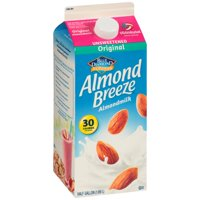 Blue Diamond Almond Breeze Original Unsweetened Almond Milk, Half Gallon