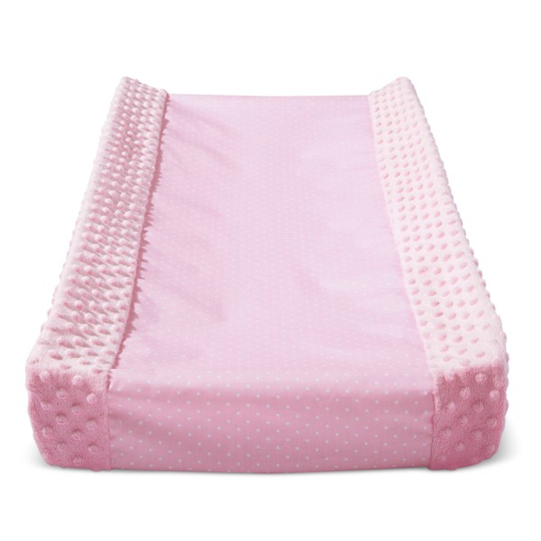 Wipeable Changing Pad Cover with Plush Sides Dots - Cloud Island™ Pink