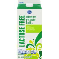 Kroger Grade A Lactose Free 1% Low Fat Ultra Pasteurized Milk