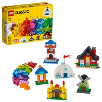 LEGO Classic Bricks and Houses 11008 Building Set for Imaginative Play (270 Pieces)