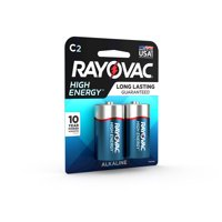 Rayovac High Energy Alkaline, C Batteries, 2 Count