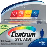 Centrum Silver Multivitamins for Men Over 50, Multivitamin/Multimineral Supplement with Vitamin D3, B Vitamins and Zinc - 100 Count