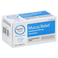 Signature Mucus Relief, 400 mg, Immediate-Release Tablets