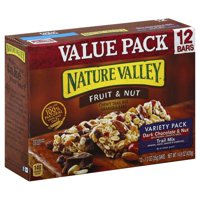 Nature Valley Chewy Granola Bar Trail Mix Variety Pack of Dark Chocolate & Nut and Fruit & Nut 12 - 1.2 oz Bars