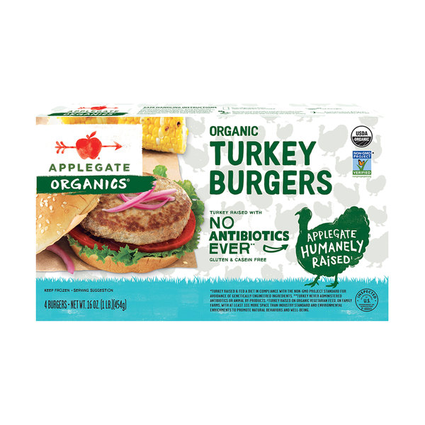 Organic Turkey Burgers, 16 oz