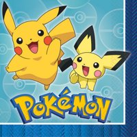 American Greetings Pokemon Party Supplies Paper Lunch Napkins, 16-Count