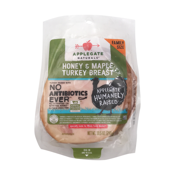 Applegate Family Size Honey Maple Turkey Breast, 10.5 oz