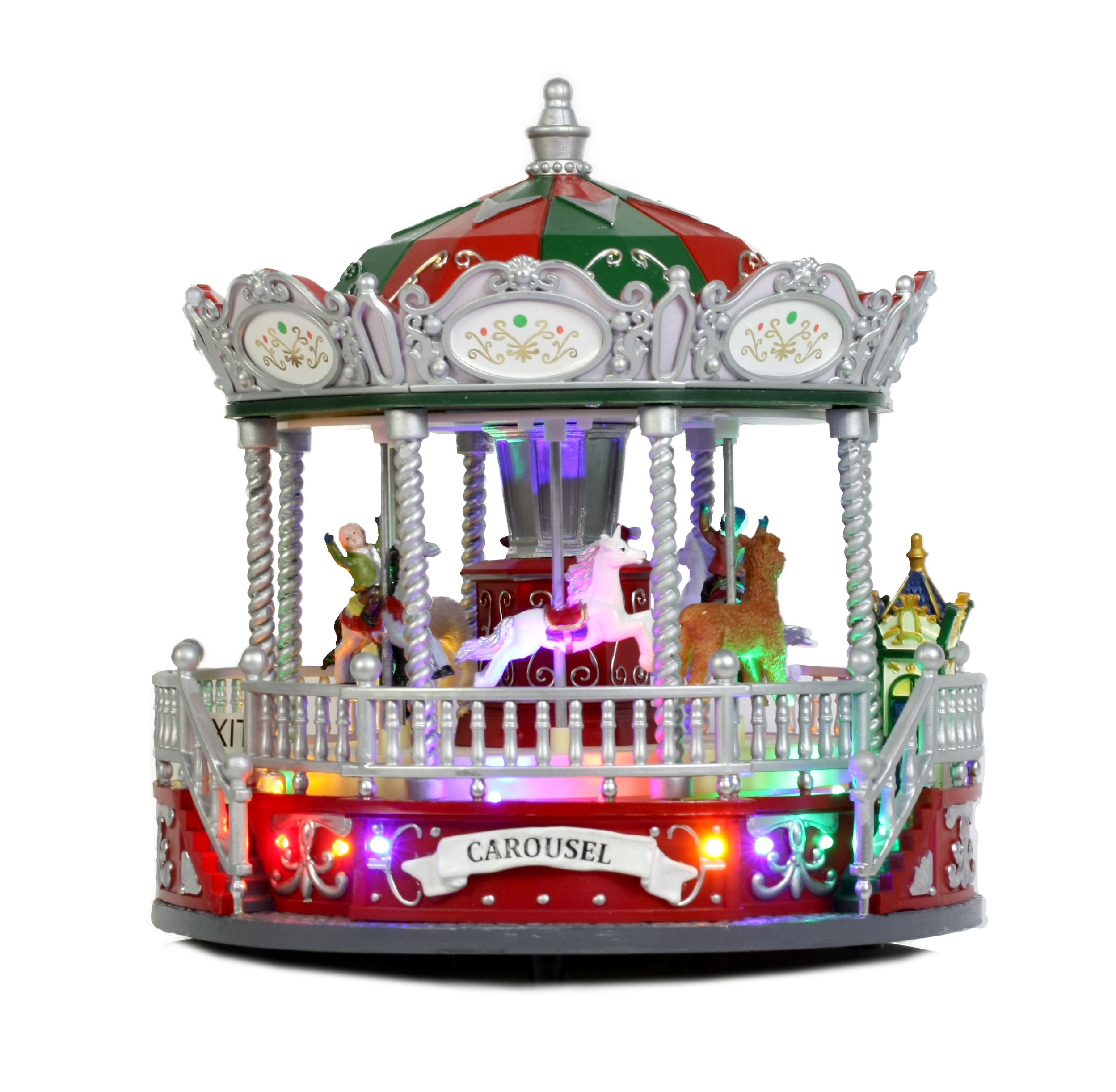 Holiday Time Carousel Decoration