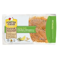 Foster Farms Naturally Seasoned Lemon Herb Marinated Chicken Breast - 0.78-1.6lbs - priced per lb